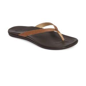 Olukai Ho Opio' Leather Flip Flop